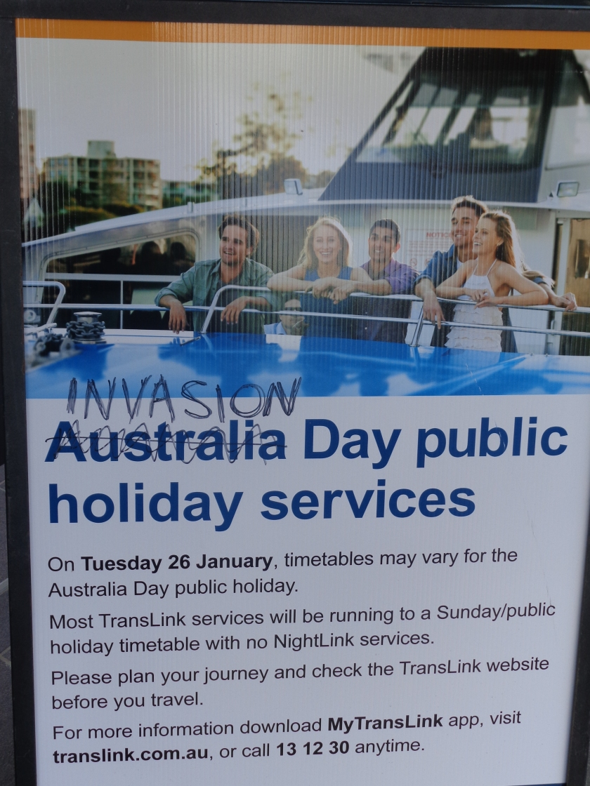 "Australia Day holiday notice corrected to read ""Invasion Day"""