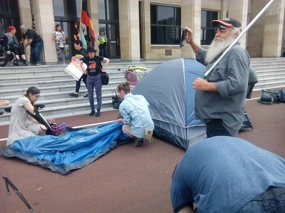 Boorloo / Perth: First Nations People lead action for the homeless at WAParliament